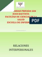11.- RELACIONES INTERPERSONALES