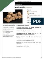 Hoja de Impresión de Gianduja de Caramelo y Café