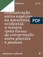 Callicot - Comunicação Entre Espécies Na Amazonia Ocidental