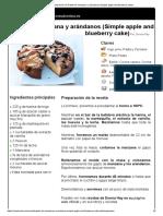Hoja de Impresión de Pastel de Manzana y Arándanos (Simple Apple and Blueberry Cake)