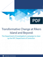 Transformative Change at Rikers Island and Beyond