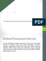 Manajemen Pemasaran Internal Koperasi