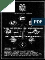 Plan nacional de Desarrollo - Ecuador 1980-1984