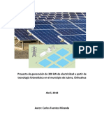 Evaluación de Proyecto de Generación de Electricidad