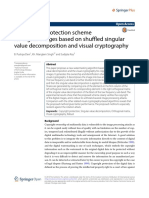 A Copyright Protection Scheme for Digital Images Based on Shffled Singular Value Decomposition and Visual Cryptography
