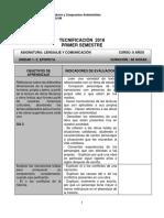 Tecnificacion 2018 Lenguaje 8