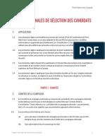 PLC Regles Nationales de Selection Des Candidats