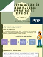 Derecho Comercial - MANUAL PARA LA GESTIÓN EMPRESARIAL DE LAS COOPERATIVAS DE SERVICIOS