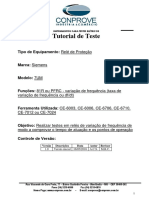 Tutorial Teste Rele Siemens 7UM Variacao de Frequencia CTC