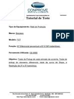 Tutorial Sequencia Para Testes de Rele 7UT No Software MICROPROC