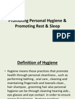 Promoting Personal Hygiene  Promoting Rest  Sleep 2.ppt