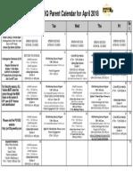 april 2018 parent calendar