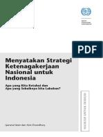 Menyatakan Strategi Ketenagakerjaan Nasional Untuk Indonesia