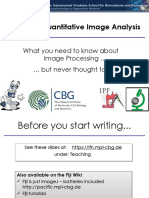Basics of Quantitative Image Analysis