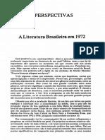 CANDIDO, Antonio. a Literatura Em 1972