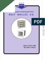 Heavy Duty Fret Security Grille