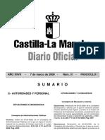 Docm 51 01 Oposiciones2008