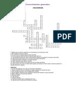 Crucigrama conocimientos generales
