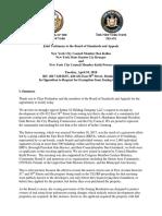 Joint Testimony to BSA Regarding 428-432 East 58th Street