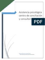 Asistencia Psicológica Centro de Conciliación y Consultorio Jurídico