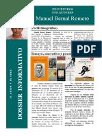 ENCUENTRO CON AUTORES. Dossier Informativo. Manuel Bernal