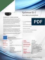 Datasheet Episensor Es t Force Balance Accelerometer Kinemetrics