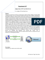 configuration of ftp and mail servers