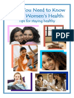 Women's Health Booklet 1-10