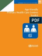 Age Friendly PHC Centre ToolkitDec08