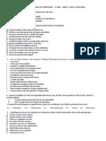 Trabalho Individual de Português 7º 8º