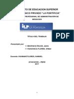 Modelo Del Informe Del Trabajo de Estadística Para Negocios