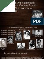 La narrativa española de posguerra - Carmen Martín Gaite y La conciencia tranquila