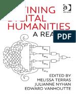 Melissa M. Terras - Defining Digital Humanities