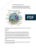 Anatomia y Fisiologia de Las Celulas