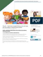 Tclpp – Teste de Competência de Leitura de Palavras e Pseudopalavras - Blog Psiqueasy