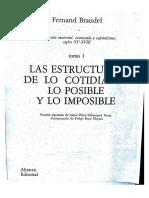 Braudel - Las Estructuras de Lo Cotidiano Lo Posible y Lo Imposible