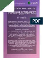 Convocatoria Coloquio Arte y Genero Arte