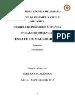 Informe de Macrografia