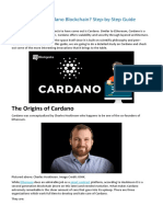 What is Cardano Blockchain Step-By-Step Guide