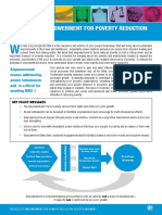 Empowerment for poverty reduction