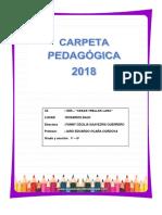 Carpeta pedagógica 2018
