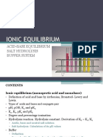 Chapter 4 - Ionic Equilibrium