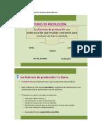 Defina de Que Trata Cada Uno Los Factores de Producción