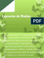 Exposicion de Expresion de medios