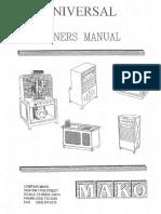 Maco Universal Owners Manual 2-26-09