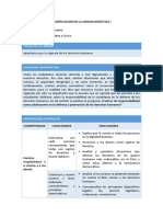 FCC - Planificación Unidad 1 - 3er Grado