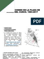Modificaciones en La Plaza de Armas Del Cusco