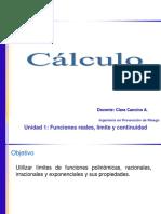 Cálculo Funciones Exponenciales y Logarítmicas 2018