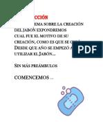 Historia Del Jabon