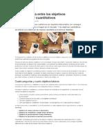 La Coherencia Entre Los Objetivos Cualitativos y Cuantitativos